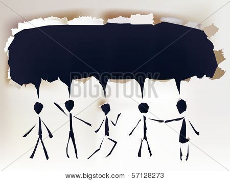 Group of people talking, communication concept