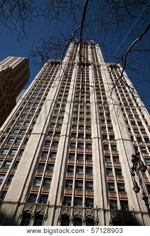 Looking Up At The Woolworth Building, New York