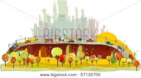 autumn in the big city