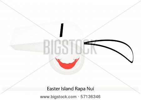 A Whistle Of Easter Island Rapa Nui