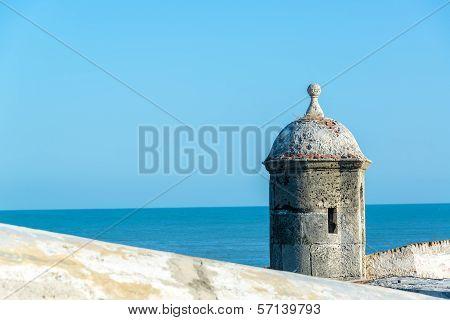Cartagena Wall And Sea