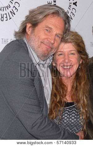Jeff Bridges and sister Cindy Bridges at the premiere of American Masters - Jeff Bridges: The Dude Abides, Paley Center for Media, Beverly Hills, CA. 01-08-11