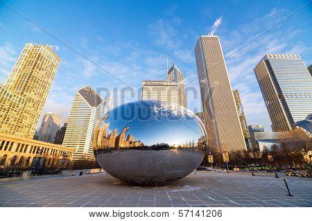 Chicago Cloud Gate Sunrise