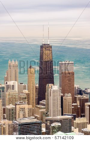Chicago Skyscrapers And Lake