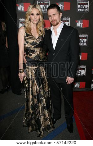 Leslie Bibb and Sam Rockwell at the 16th Annual Critics' Choice Movie Awards Arrivals, Hollywood Palladium, Hollywood, CA. 01-14-11