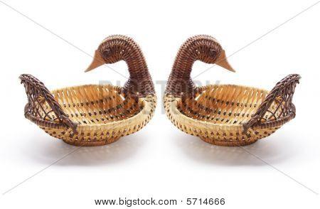 Duck  Wickerwork Baskets