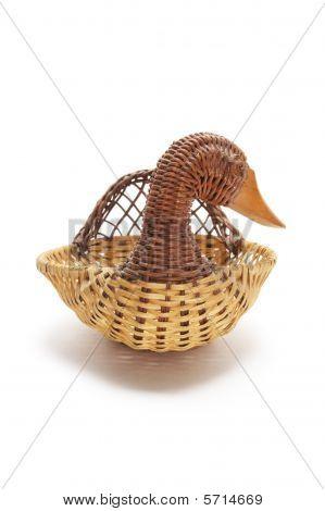 Duck Wickerwork Basket