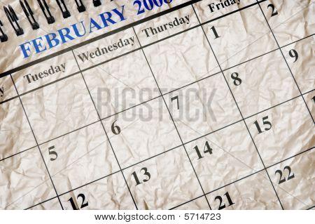 Crumpled Calendar