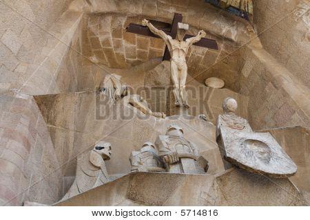 Jesus Christ Hanging On The Cross.