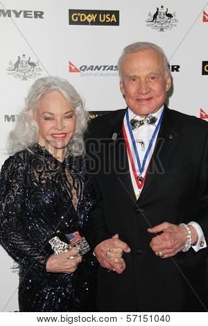 Buzz Aldrin and wife Lois at the G'Day USA Australia Week 2011 Black Tie Gala, Hollywood Palladium, Hollywood, CA. 01-22-1