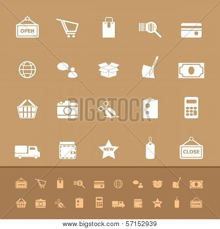 Set Of Shopping Color Icons