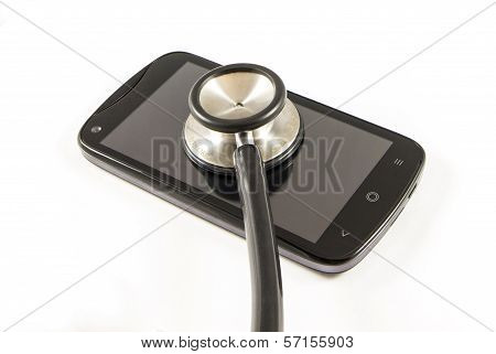 Mobile Phone And Stethoscope