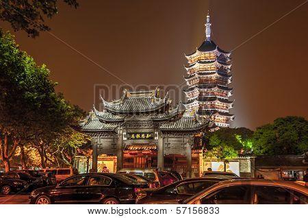 Pagoda In Night