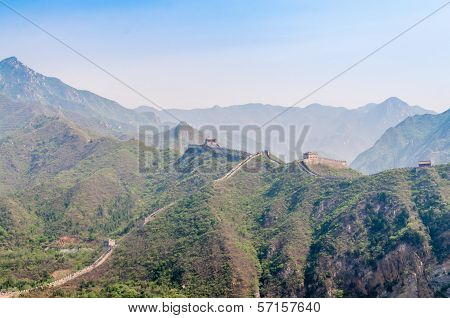 The Great Wall In Mountains