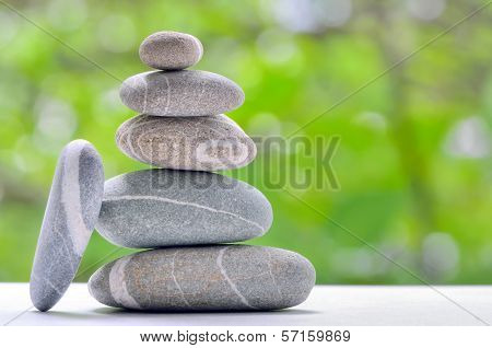 Pyramid Of Stones, River Stones Arranged