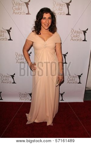 Mayim Bialik at the 2011 Writers Guild Awards, Renaissance Hotel, Hollywood, CA. 02-05-11
