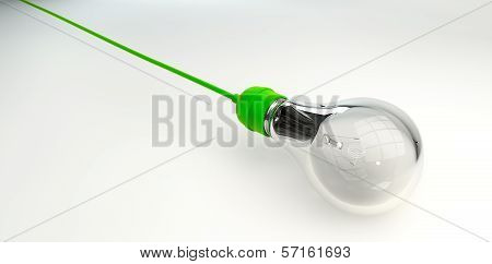 Light Bulb With Green Cord