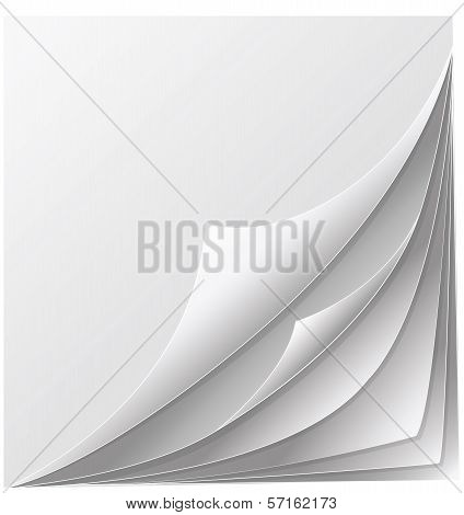 Stack Of Papers With Curl