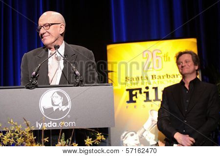 Geoffrey Rush and Colin Firth at the 26th Annual Santa Barbara International Film Festival Montecito Award To Geoffrey Rush, Arlington Theatre, Santa Barbara, CA. 01-31-11
