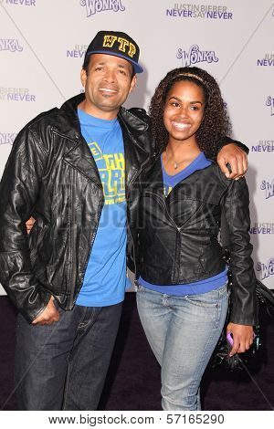 Mario Van Peebles and daughter at the