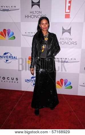 Joy Bryant at the NBC/Universal/Focus Features Golden Globes Party, Beverly Hilton Hotel, Beverly Hills, CA 01-15-12