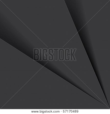 Black & White Background Paper Or Plastic Sheets - Vector Graphic