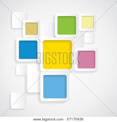 Colorful Background Rounded Squares With Borders - Vector Graphic