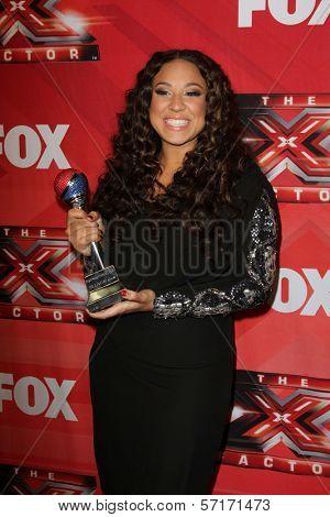 Melanie Amaro at The X Factor Season Finale, CBS Television City, Los Angeles, CA 12-22-11