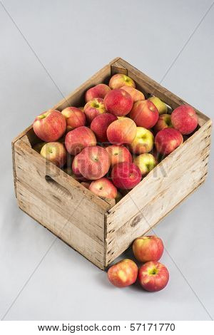 Wooden Crate With Apples