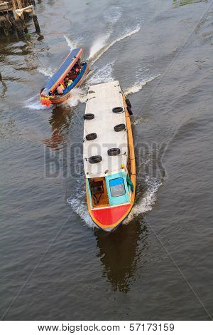 Tourist boat in canal