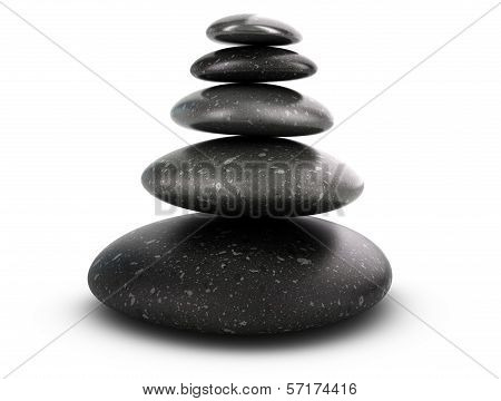 Five Pebbles Stacked, Harmony Concept