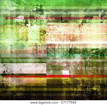 Light Texture On Striped Mixed Media