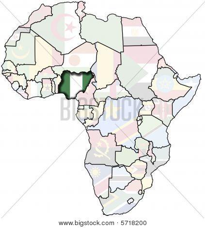 Nigeria On Africa Map