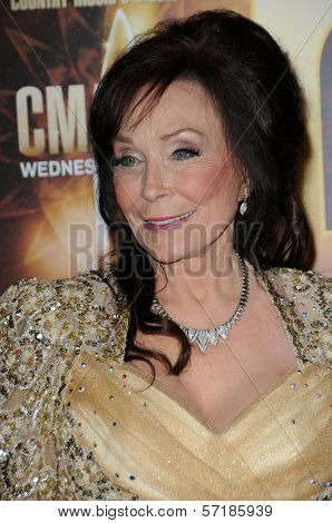 Loretta Lynn at the 44th Annual CMA Awards, Bridgestone Arena, Nashville, TN.  11-10-10
