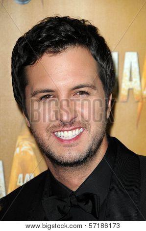 Luke Bryan at the 44th Annual CMA Awards, Bridgestone Arena, Nashville, TN.  11-10-10