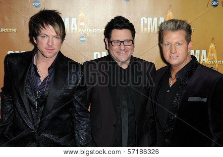 Rascal Flatts at the 44th Annual CMA Awards, Bridgestone Arena, Nashville, TN.  11-10-10