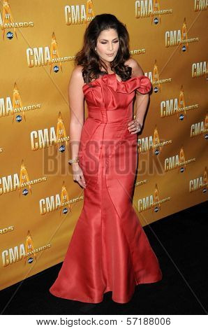 Hillary Scott at the 44th Annual CMA Awards, Bridgestone Arena, Nashville, TN.  11-10-10