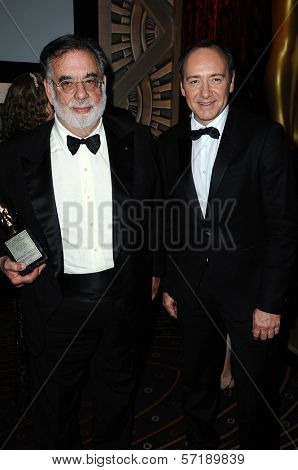 Francis Ford Coppola and Kevin Spacey at the  2nd Annual Academy Governors Awards, Kodak Theater, Hollywood, CA.  11-14-10