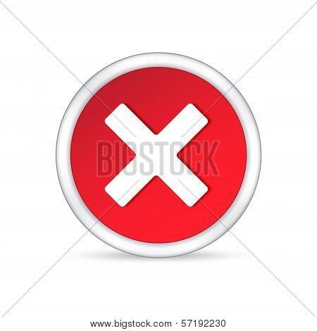 Delete Icon On White Background