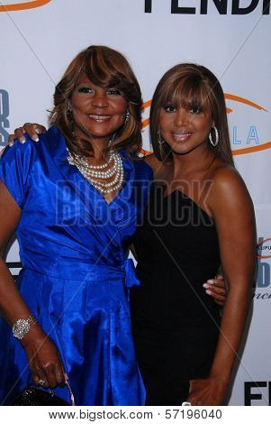 Toni Braxton and mom at the Lupus LA 8th Annual Bag Ladies Luncheon, Beverly Wilshire Hotel, Beverly Hills, CA. 11-16-10
