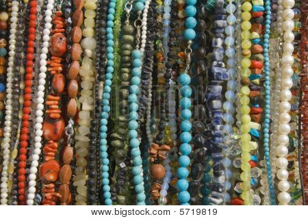 Colorful Jewelry Beads Texture For your Background