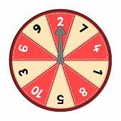 picture of numbers counting  - Vector number wheel showing numbers 1 - JPG