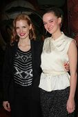 Jessica Chastain and Jess Weixler at the