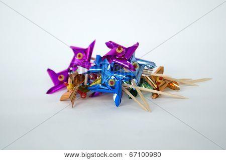 Mini Pinwheels in a Pile