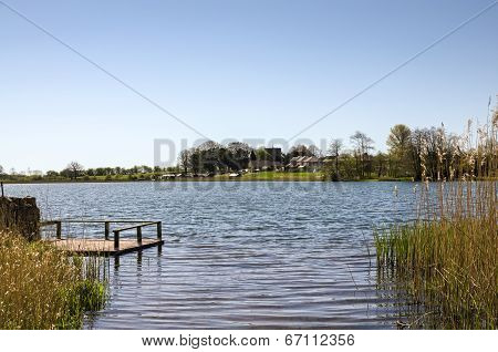 View of Urswick Tarn and  jetty in Cumbria