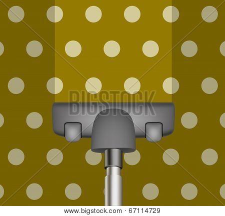 Vacuum cleaner drains brown carpet