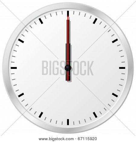 Clock At Noon