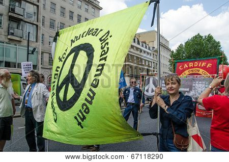 CND Banner, protest march