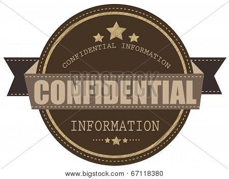 Confidential Information Stamp