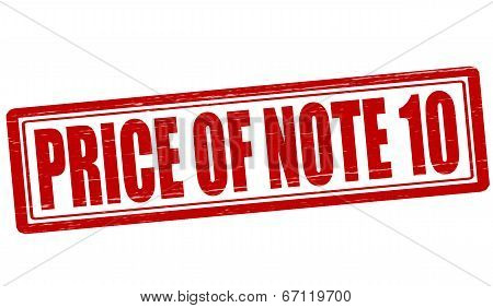 Price Of Note Ten